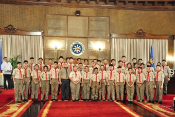 CKS Scouts Attend President Duterte Investiture